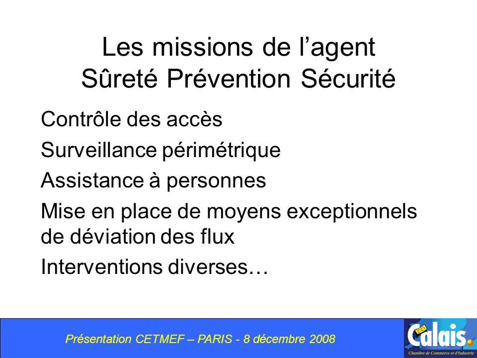Les missions de l'agent Sûreté Prévention Sécurité