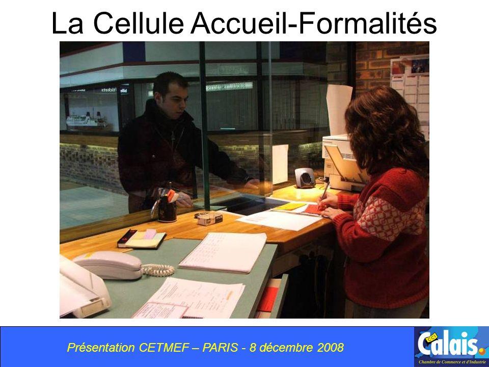 La Cellule Accueil-Formalités