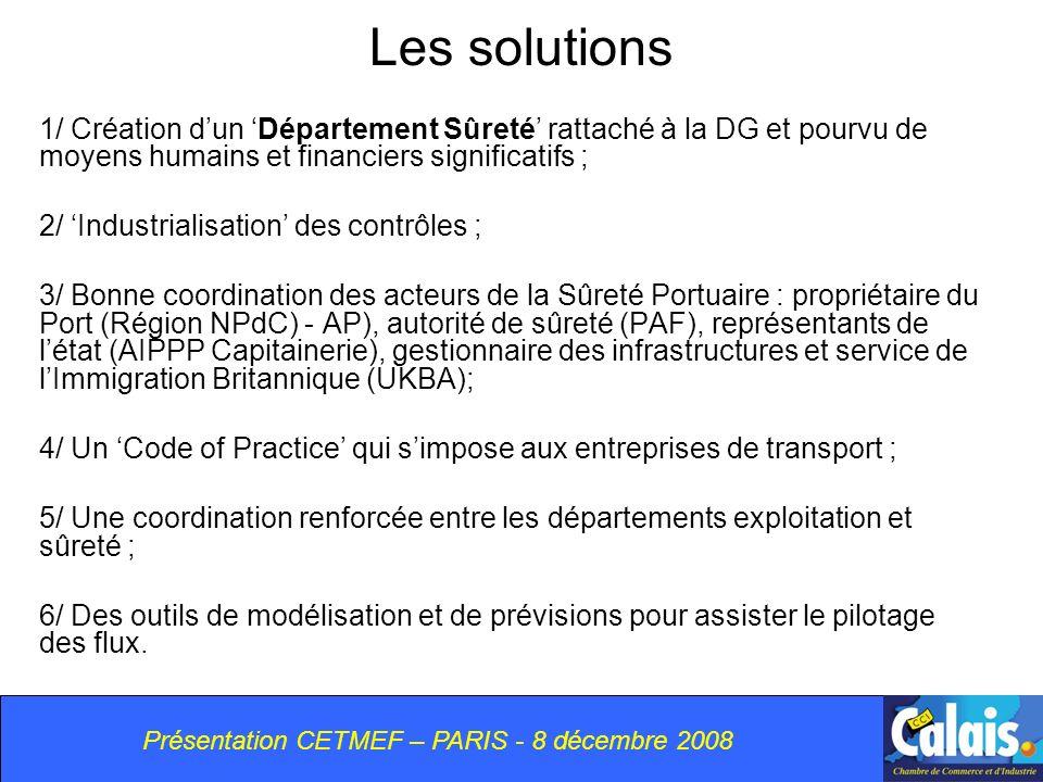 Présentation CETMEF – PARIS - 8 décembre 2008