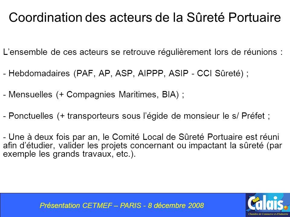 Coordination des acteurs de la Sûreté Portuaire