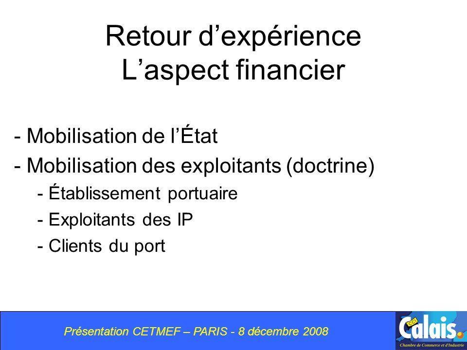 Retour d'expérience L'aspect financier
