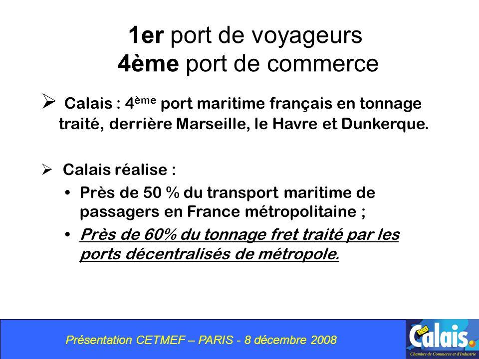 1er port de voyageurs 4ème port de commerce