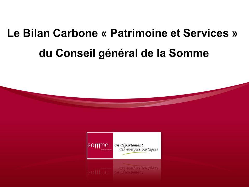 Le Bilan Carbone « Patrimoine et Services »