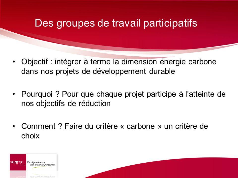Des groupes de travail participatifs