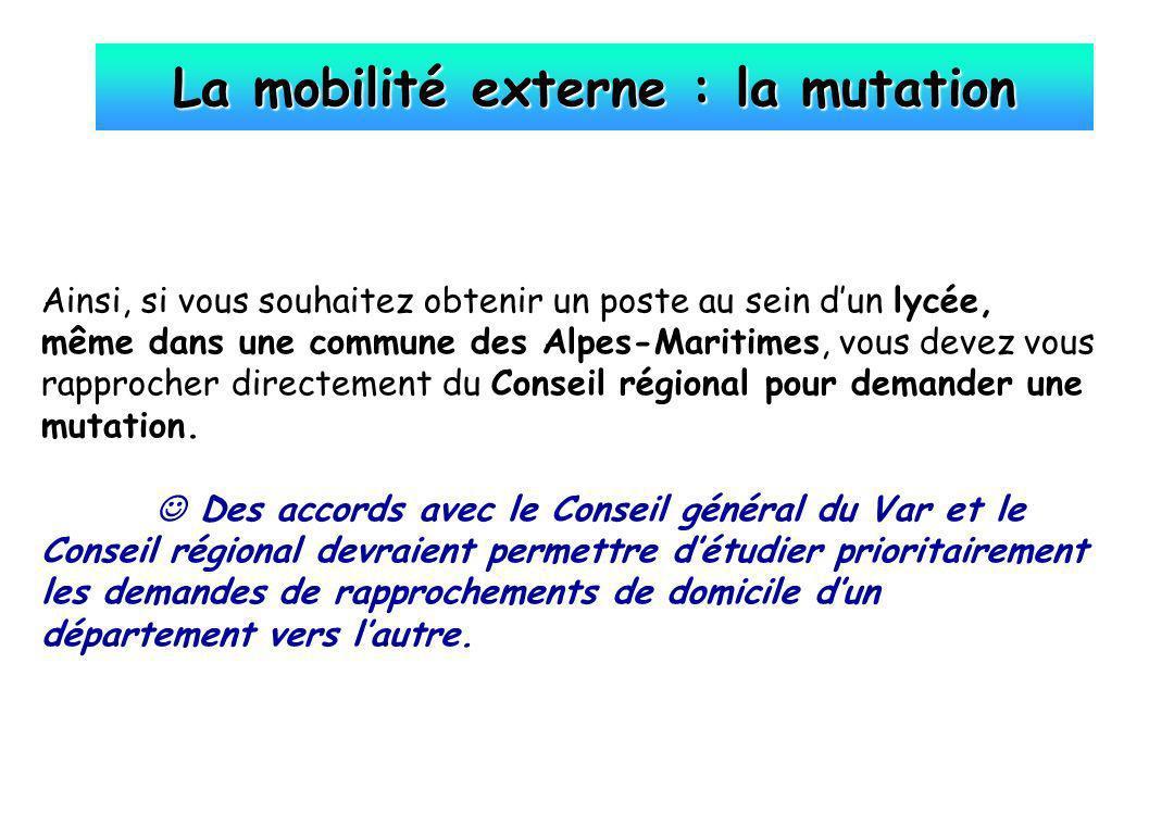 La mobilité externe : la mutation