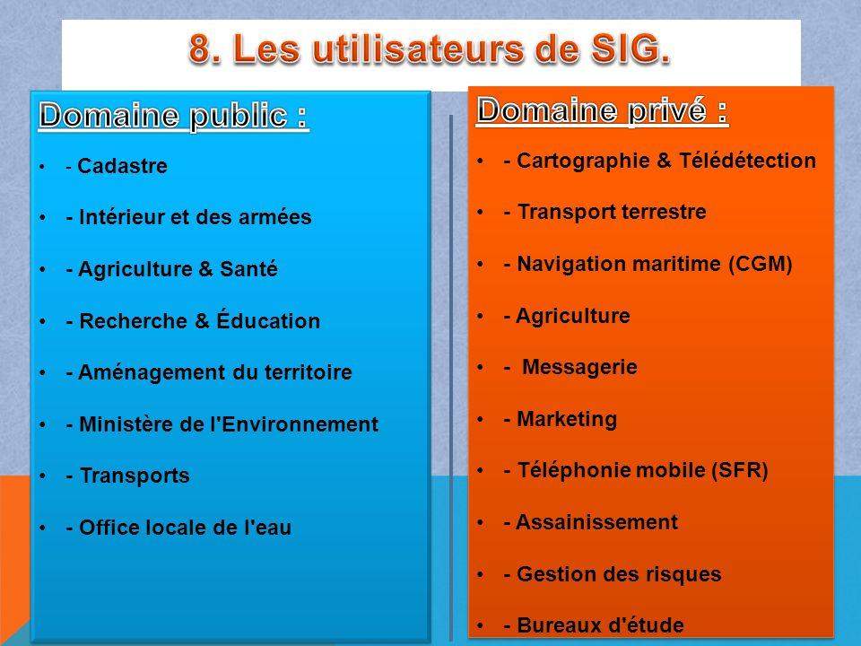 8. Les utilisateurs de SIG.