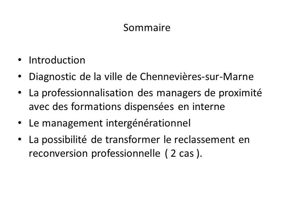 Sommaire Introduction. Diagnostic de la ville de Chennevières-sur-Marne.