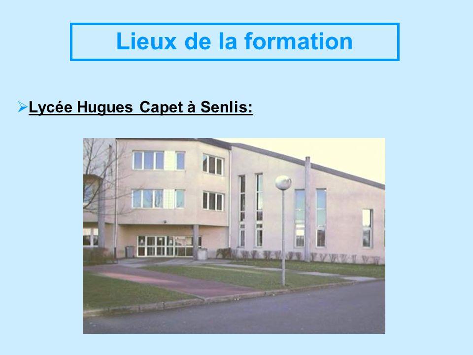 Lieux de la formation Lycée Hugues Capet à Senlis:
