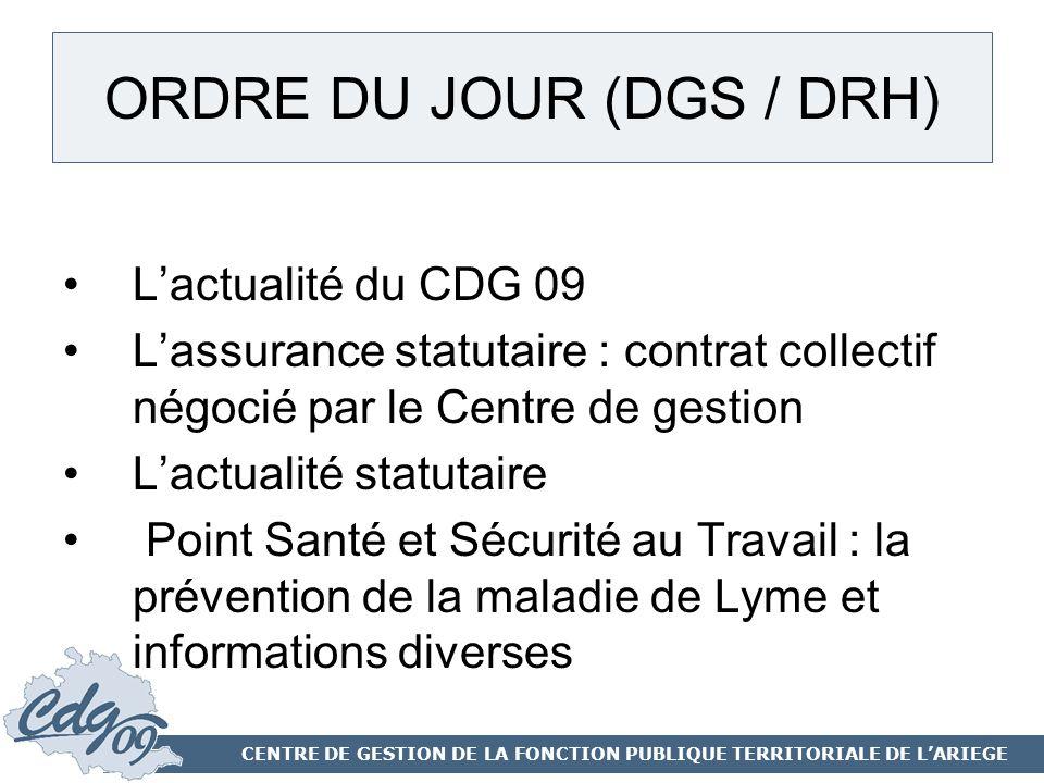 ORDRE DU JOUR (DGS / DRH)