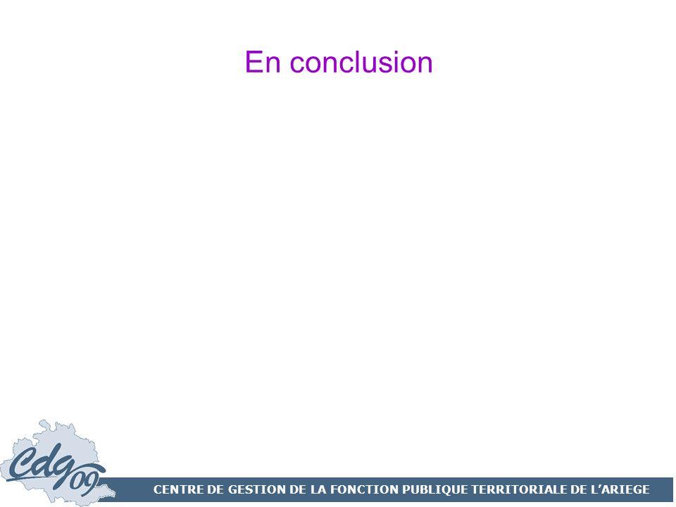 CENTRE DE GESTION DE LA FONCTION PUBLIQUE TERRITORIALE DE L'ARIEGE