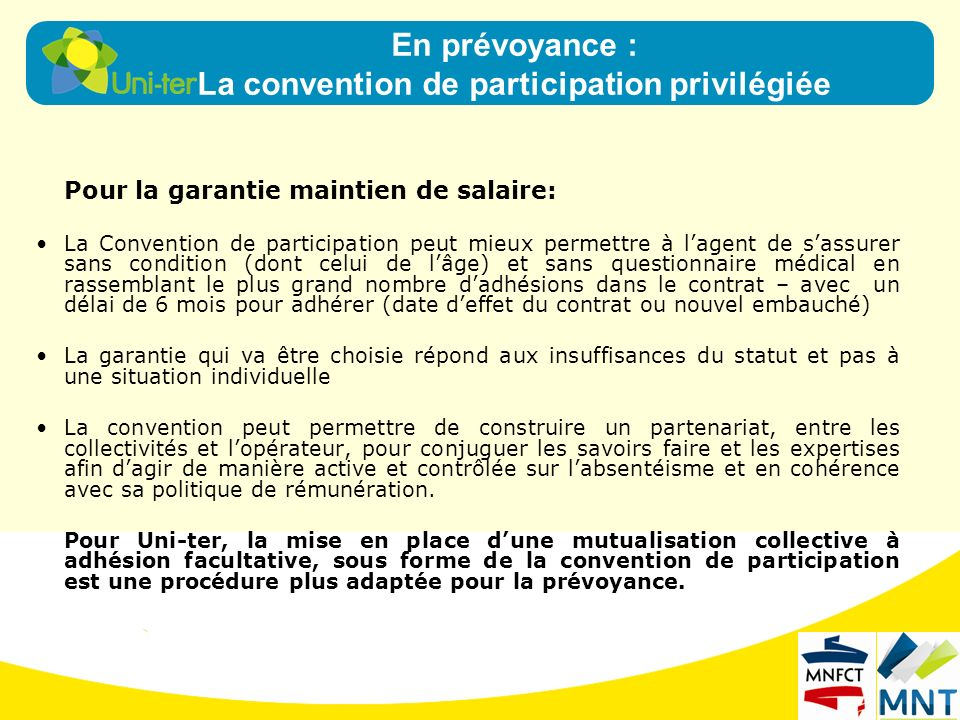 La convention de participation privilégiée