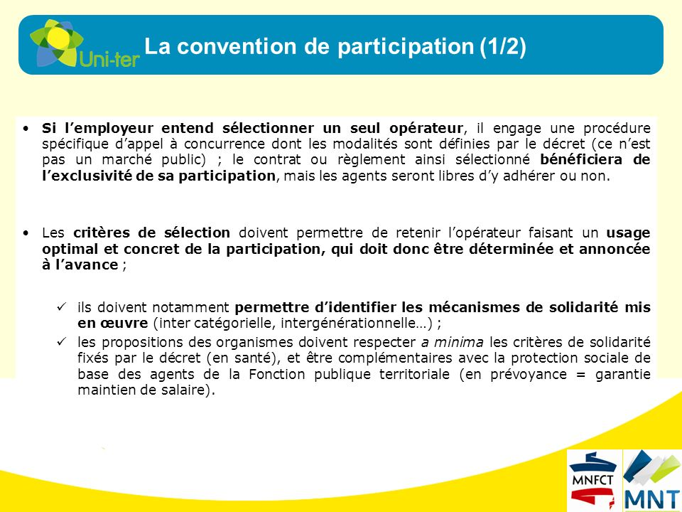 La convention de participation (1/2)