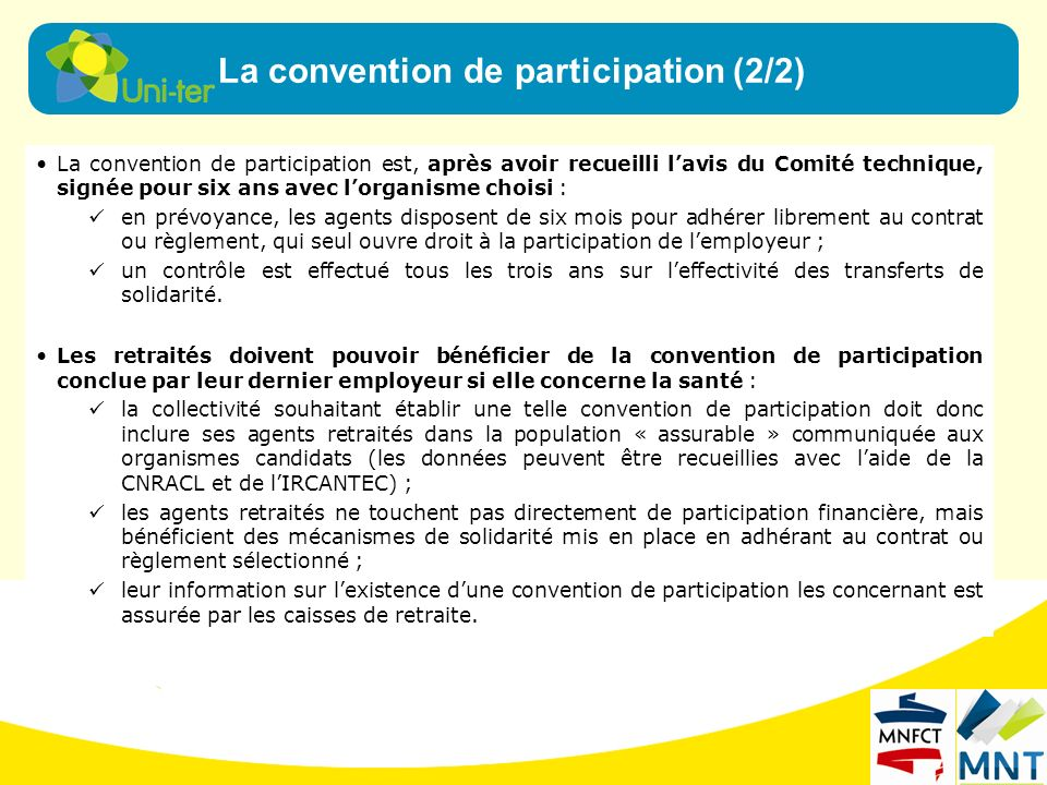 La convention de participation (2/2)