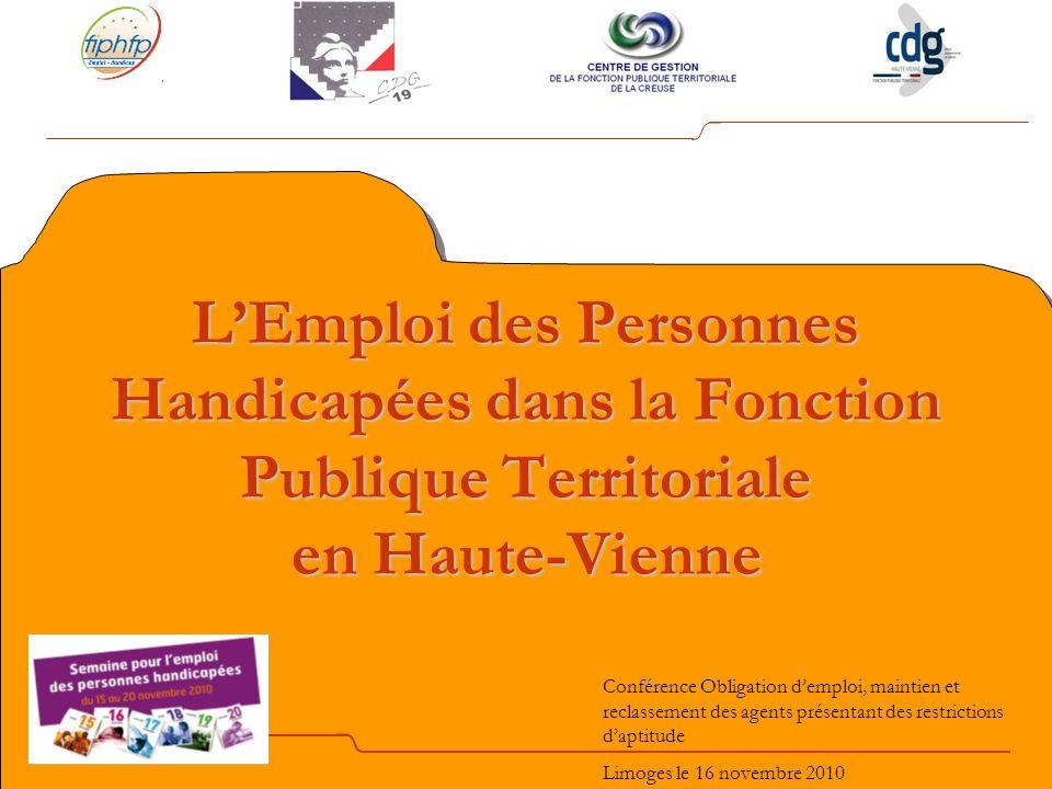 L'Emploi des Personnes Handicapées dans la Fonction Publique Territoriale en Haute-Vienne