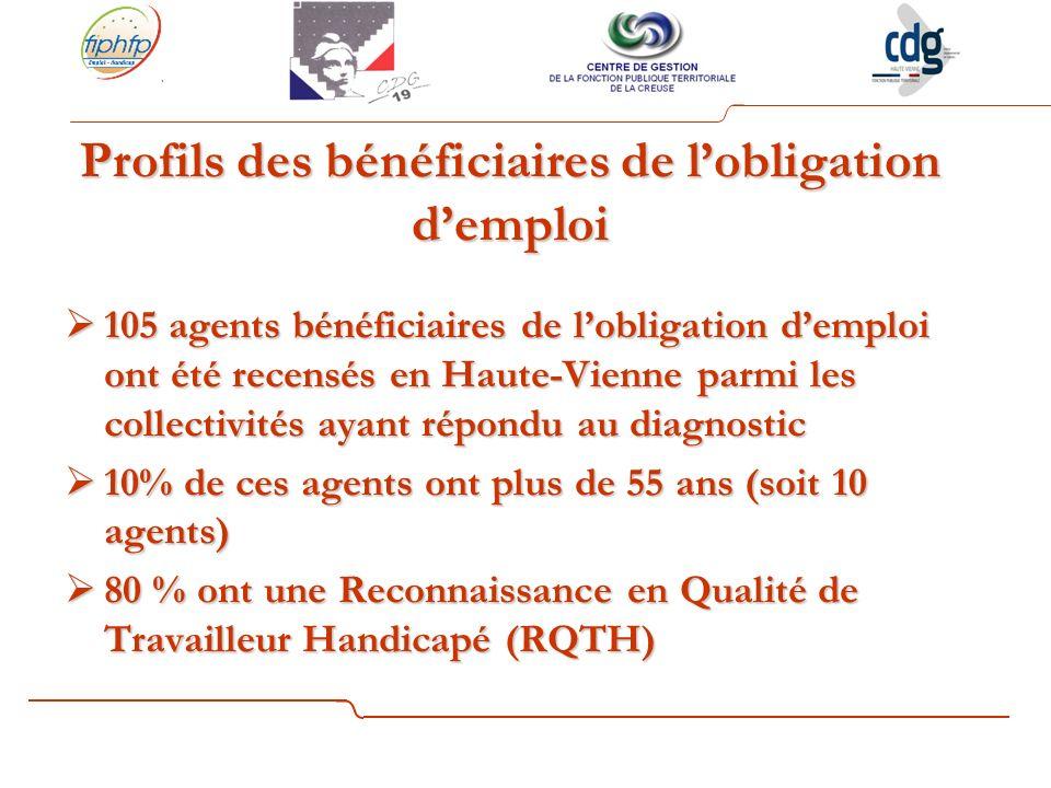 Profils des bénéficiaires de l'obligation d'emploi