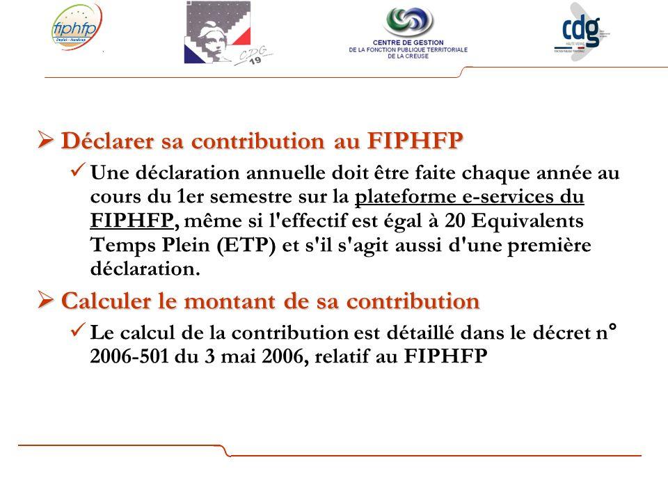 Déclarer sa contribution au FIPHFP