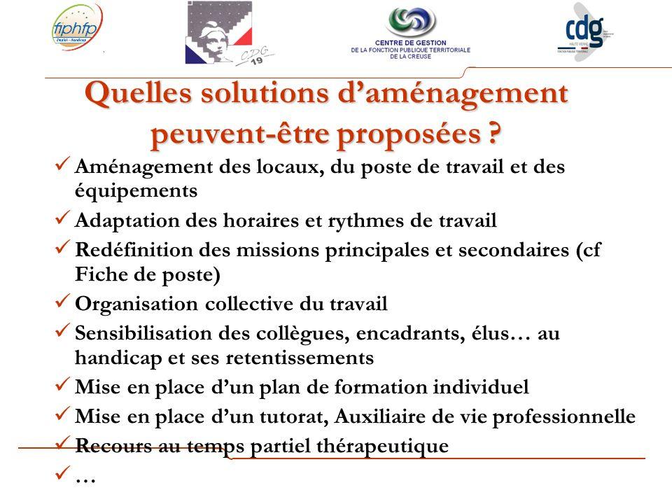 Quelles solutions d'aménagement peuvent-être proposées