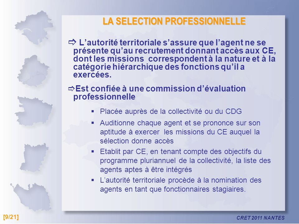 LA SELECTION PROFESSIONNELLE