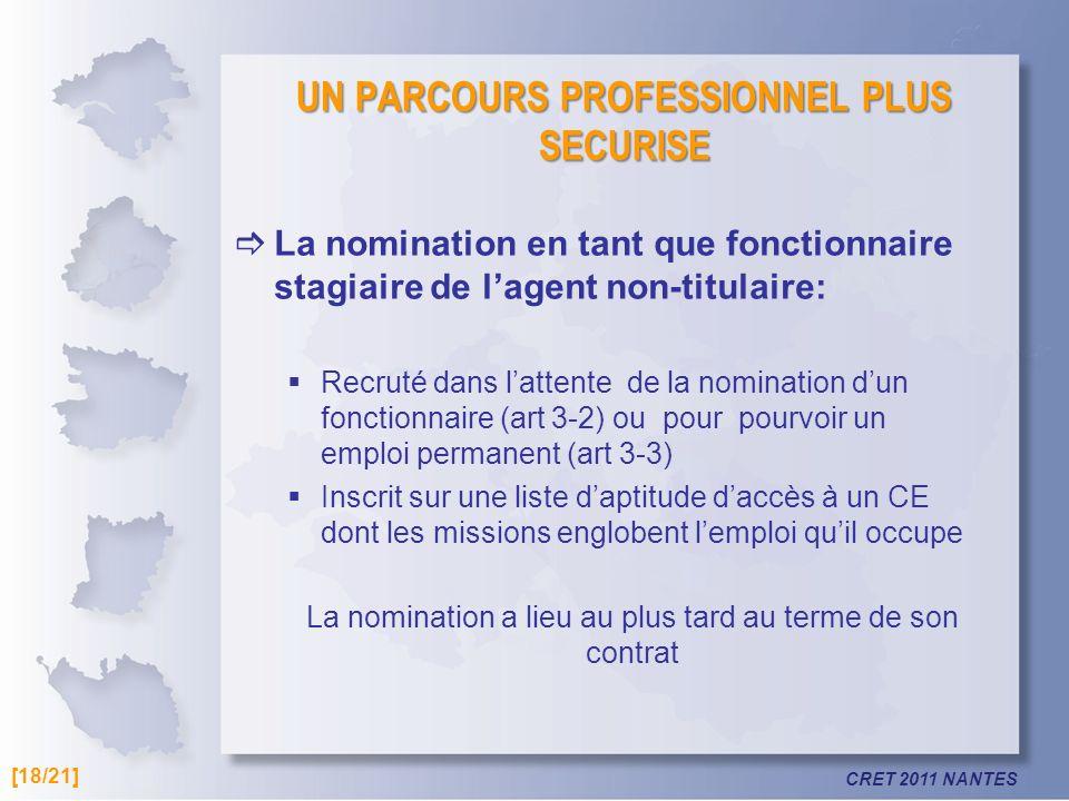 UN PARCOURS PROFESSIONNEL PLUS SECURISE