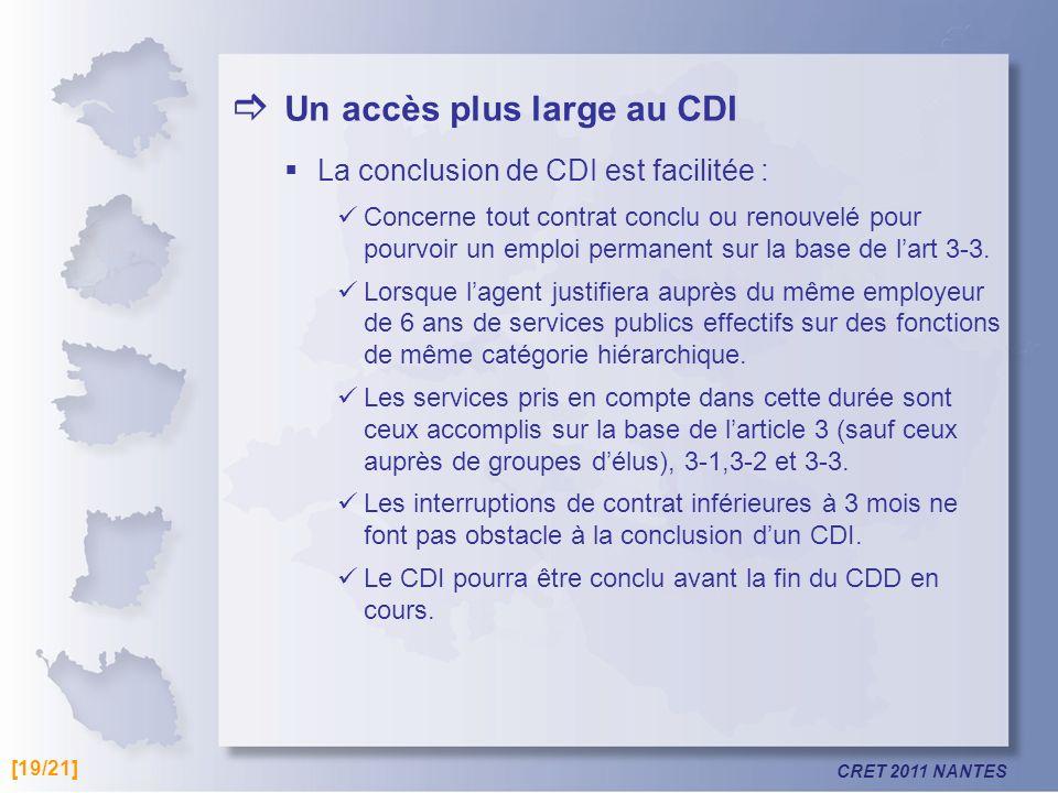  Un accès plus large au CDI