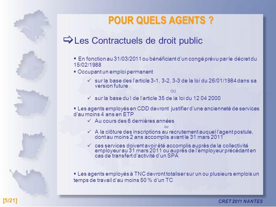 Les Contractuels de droit public