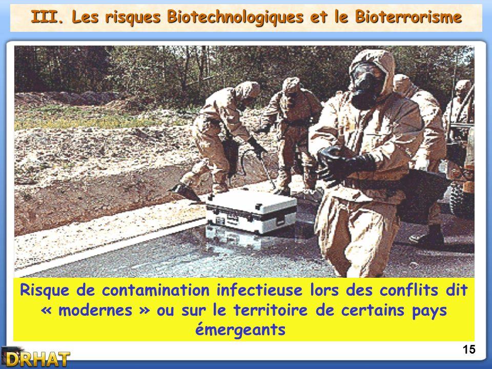 III. Les risques Biotechnologiques et le Bioterrorisme
