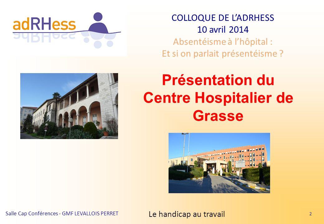 Présentation du Centre Hospitalier de Grasse