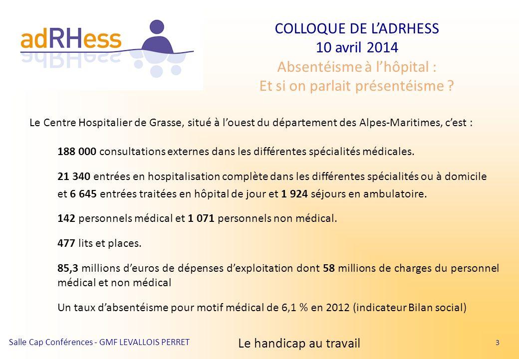 Le Centre Hospitalier de Grasse, situé à l'ouest du département des Alpes-Maritimes, c'est :