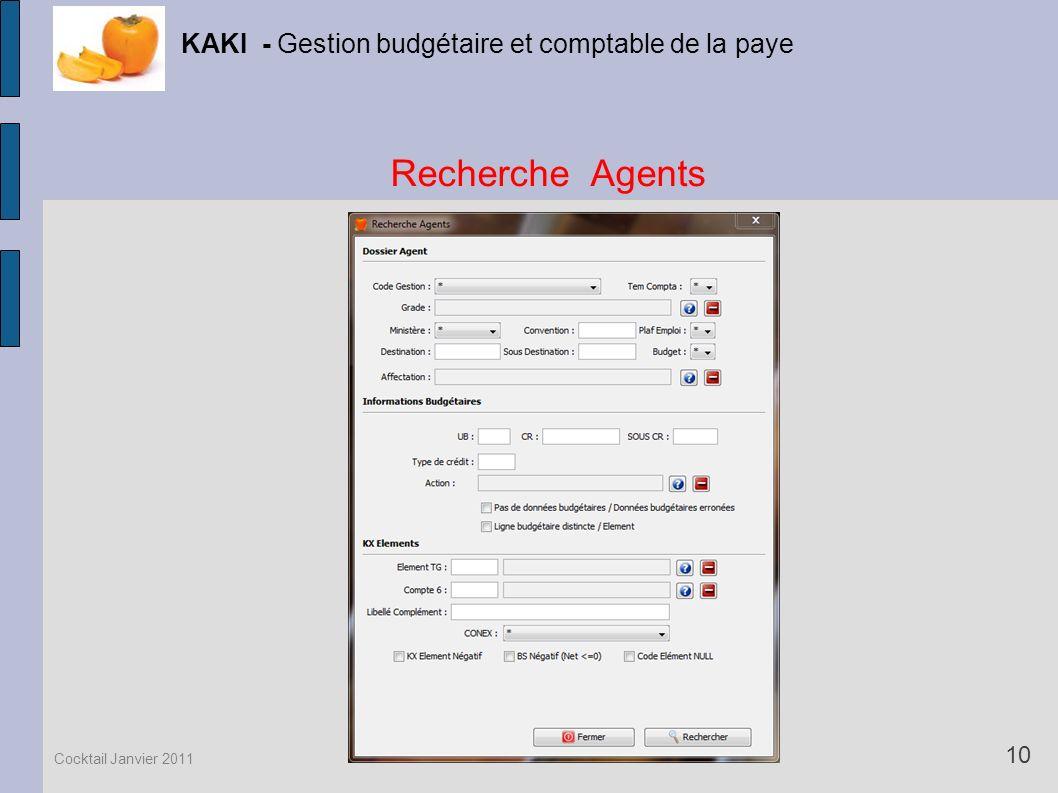 Recherche Agents KAKI - Gestion budgétaire et comptable de la paye 10