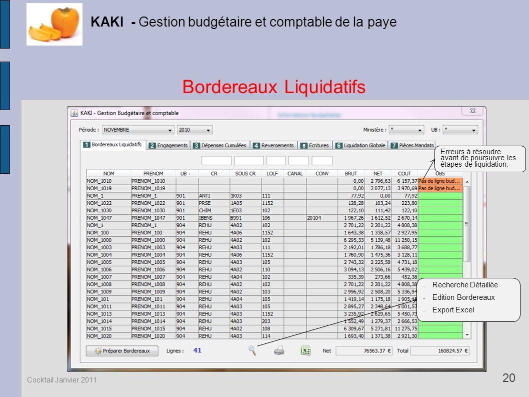 Bordereaux Liquidatifs