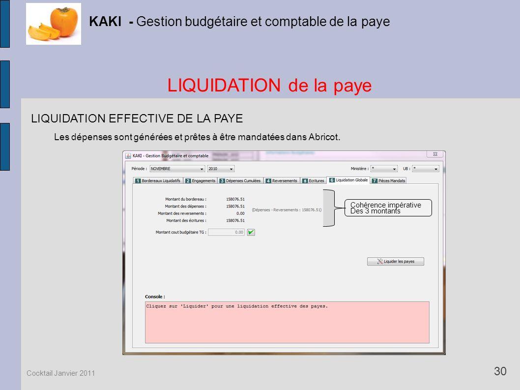 KAKI - Gestion budgétaire et comptable de la paye
