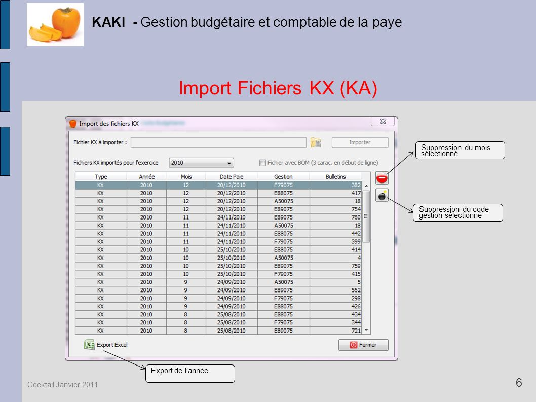 Import Fichiers KX (KA)