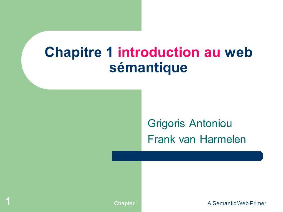 Chapitre 1 introduction au web sémantique