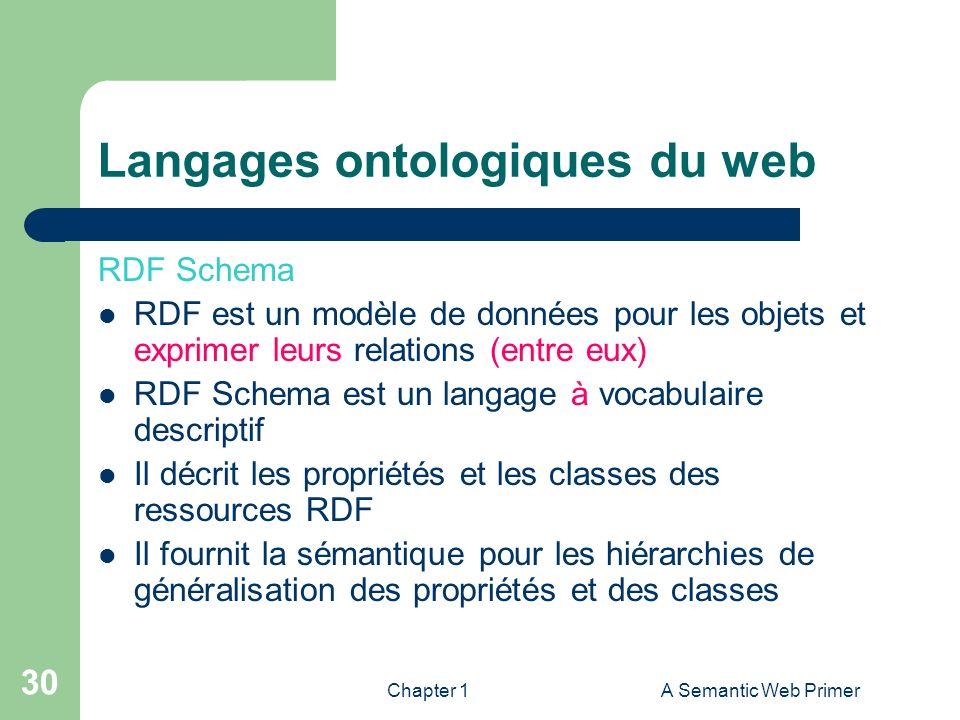 Langages ontologiques du web