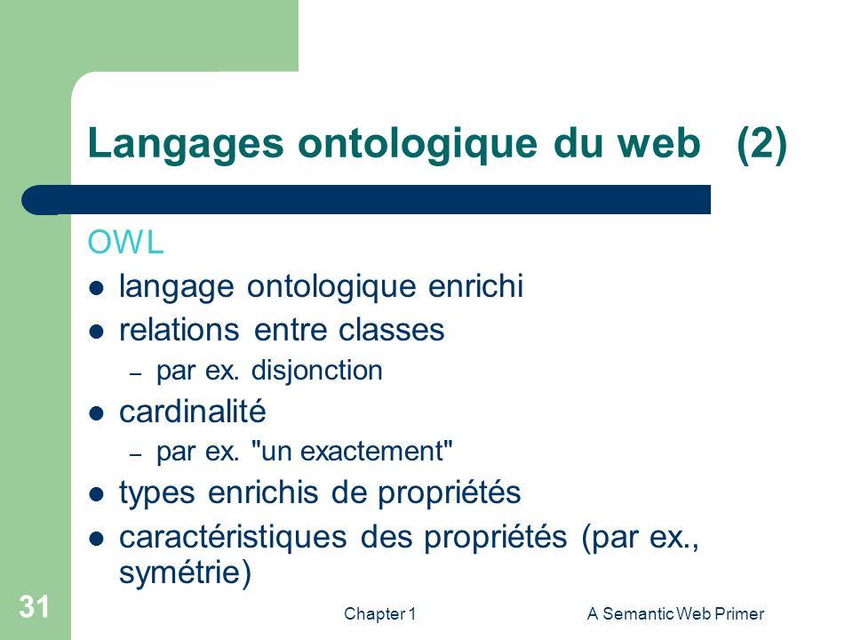 Langages ontologique du web (2)