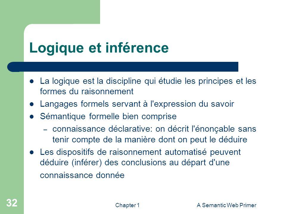 Logique et inférence La logique est la discipline qui étudie les principes et les formes du raisonnement.