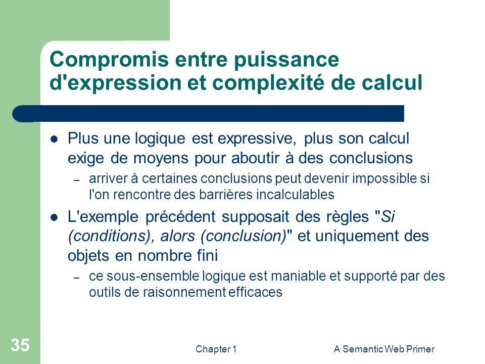 Compromis entre puissance d expression et complexité de calcul