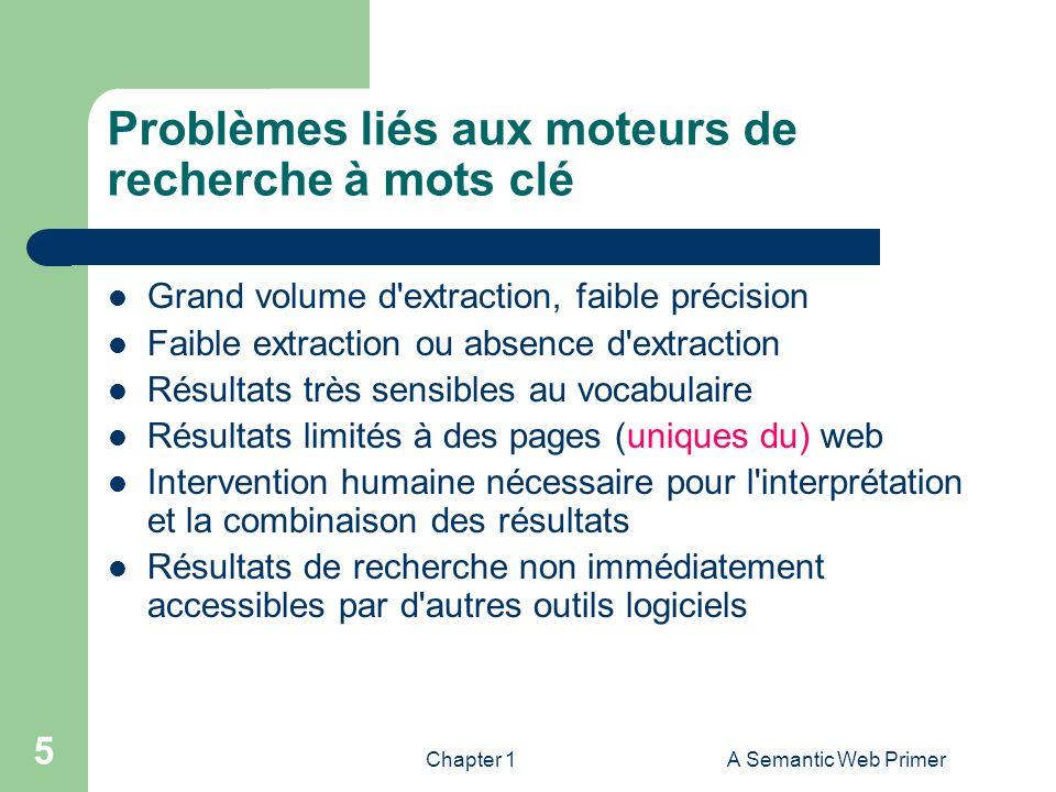 Problèmes liés aux moteurs de recherche à mots clé