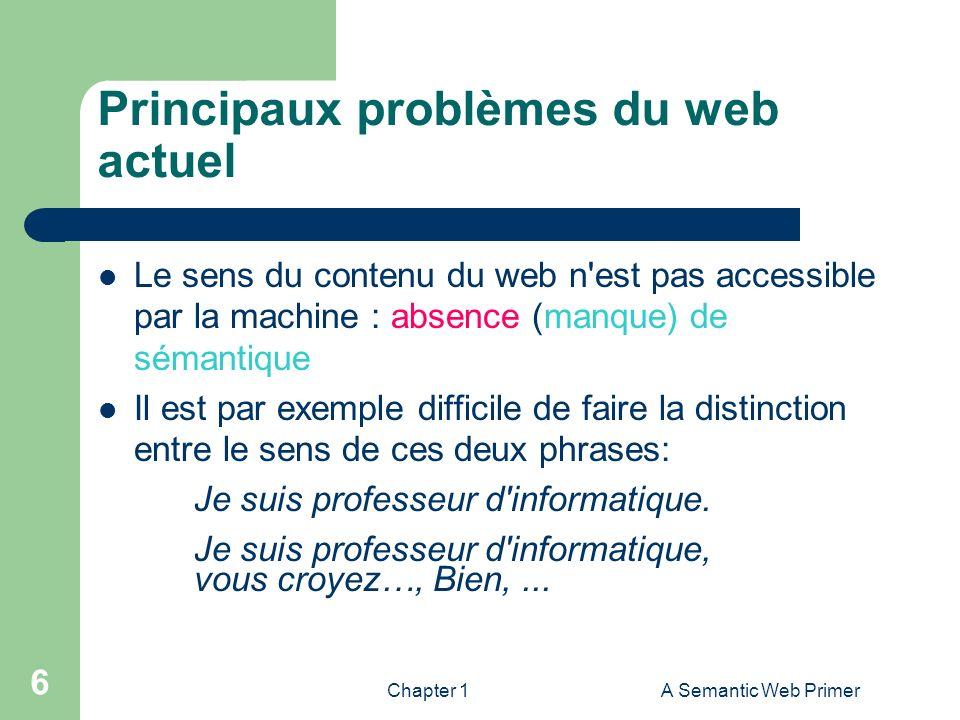 Principaux problèmes du web actuel