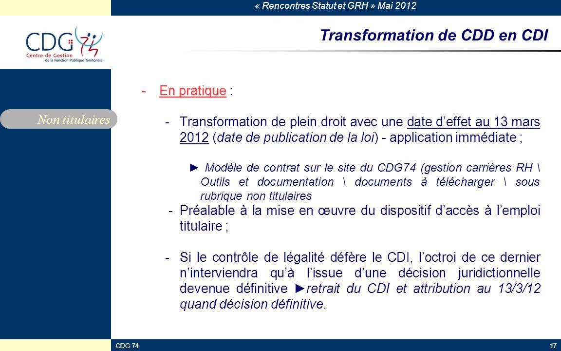 Transformation de CDD en CDI