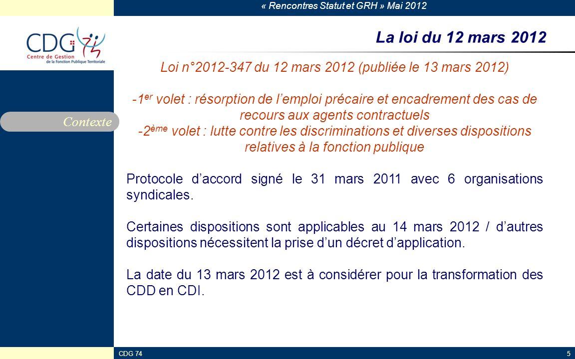 Loi n°2012-347 du 12 mars 2012 (publiée le 13 mars 2012)