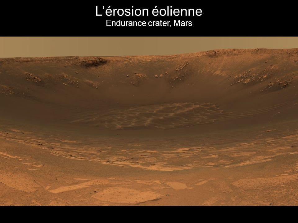 L'érosion éolienne Endurance crater, Mars