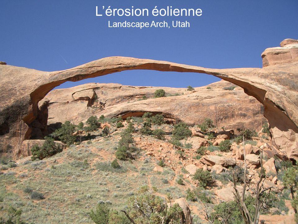 L'érosion éolienne Landscape Arch, Utah