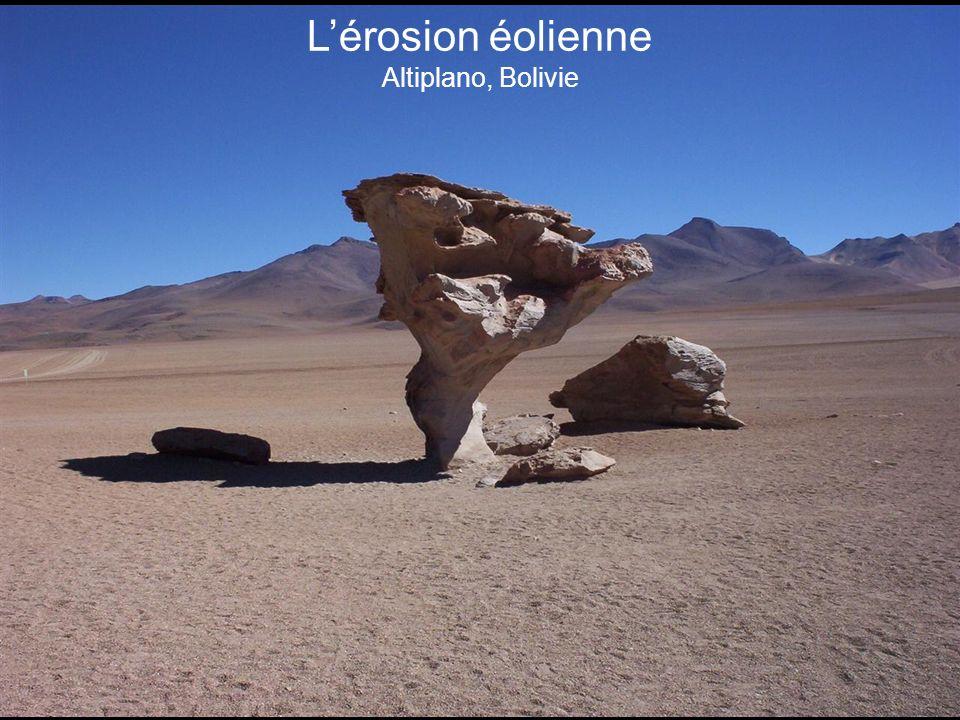 L'érosion éolienne Altiplano, Bolivie