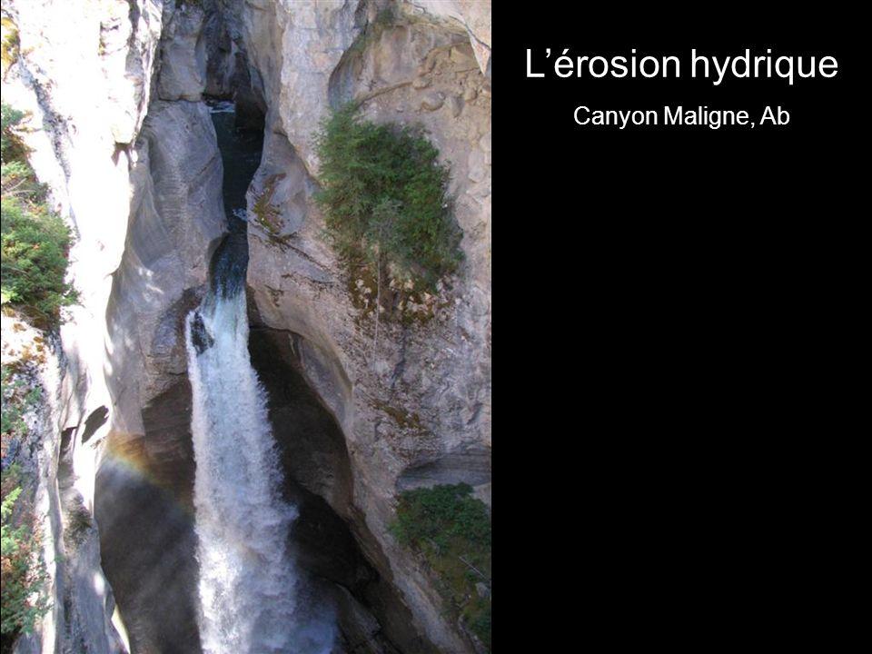 L'érosion hydrique Canyon Maligne, Ab