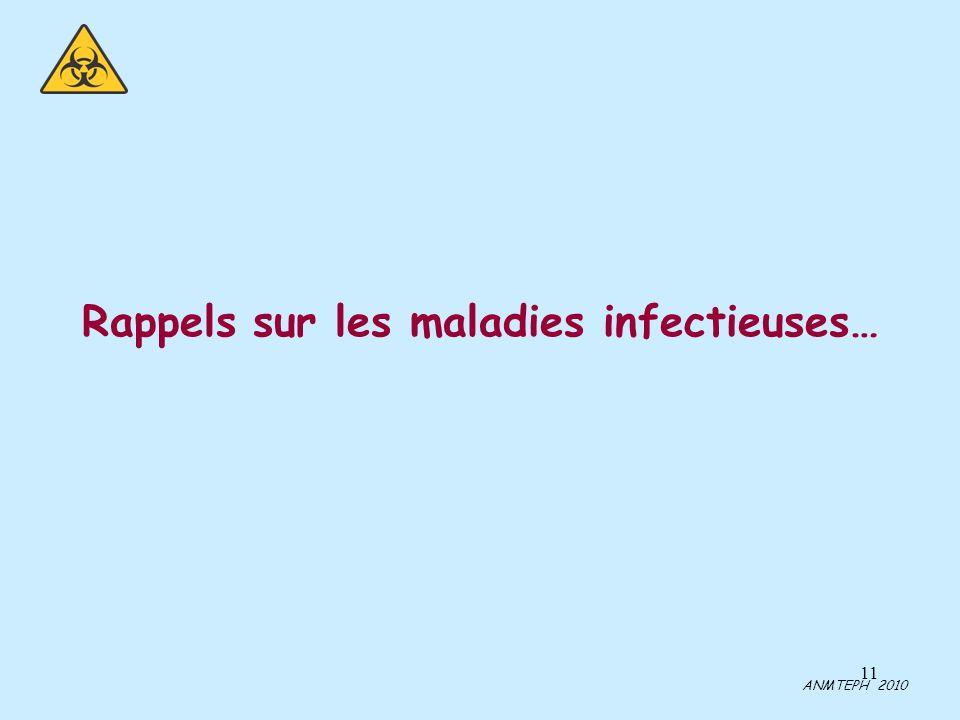 Rappels sur les maladies infectieuses…