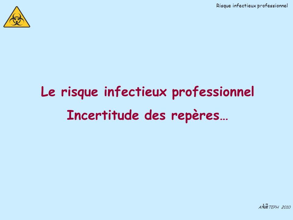 Le risque infectieux professionnel Incertitude des repères…