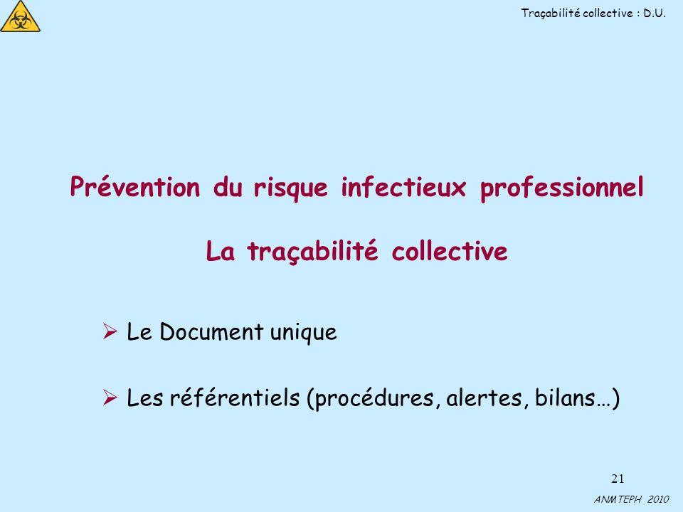 Traçabilité collective : D.U.