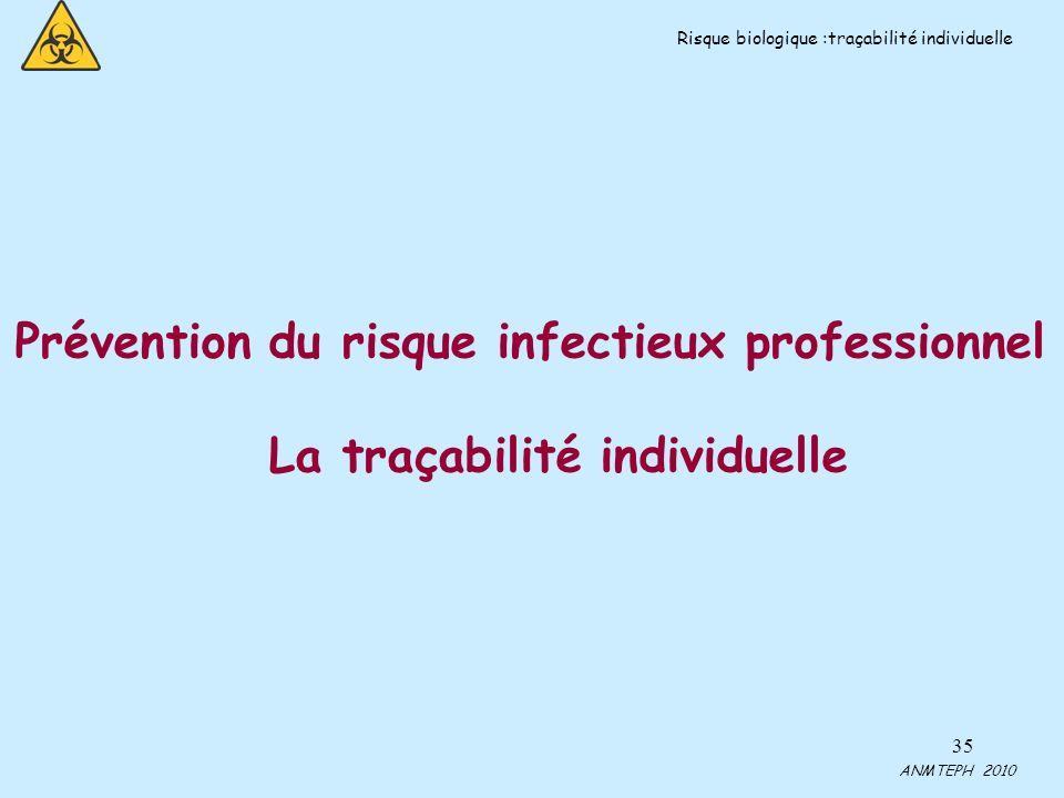 La traçabilité individuelle
