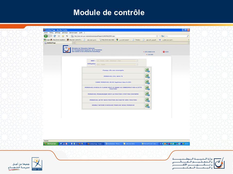 Module de contrôle